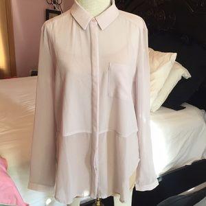 Lush sheer shirt - M